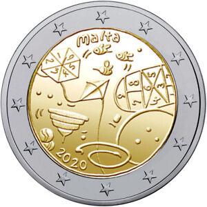 Malta 2 Euro Gedenkmünze 2020 UNC Kinder Solidarität Games Spiele lose