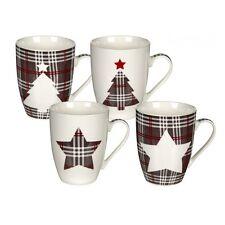 Kaffeebecher New Bone China Porzellan WEIHNACHTEN 4 Stück Becher Deko eul010