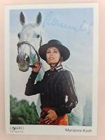 Marianne Koch ## Autogrammkarte Agfacolor Original Signiert ## RARITÄT