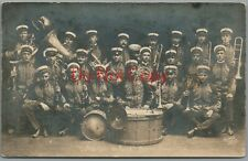 BUFFALO BILL ~ 101 RANCH ~ CONCERT BAND ~ 1916 ~ HORNER PHOTO ~ RPPC POSTCARD