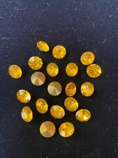 Rhinestones yellow round with golden back