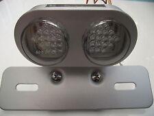 LED rear light stop tail light integral indicators round silver trike kit car