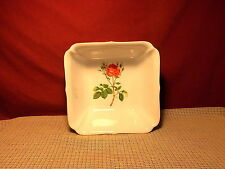 Georges Briard China Briard Rose Pattern Square Vegetable Bowl 8 1/8""