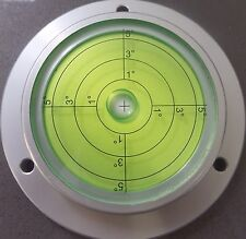 Very Large Metal Spirit Bullseye Bubble Level - Caravan Bulls Eye Round Surface