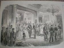RE consorte di Spagna FRANCIS Duca di Cadice a Palazzo di St. Cloud 1864 Old print