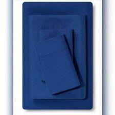Room Essentials 4pc Microfiber Solid Navy Blue Sheet Set Size Full