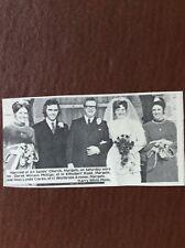 Q2b ephemera 1972 Picture Wedding Margate Phillips Clarke All Saints