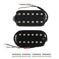 Set Alnico 5 HH Electric Guitar Pickups Humbucker Neck & Bridge Pickups Black