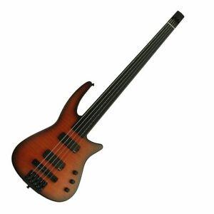 NS Design NXT5a Radius Fretless 5 String Bass Guitar Sunburst  - EMG C/w Gig bag