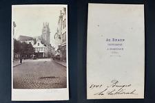 Ad. Braun, Belgique, Bruges, La cathédrale Saint-Sauveur Vintage cdv albumen pri