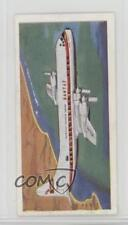 1961 Lyons Tea Wings Across the World Base #18 Lockheed Electra Card 4az