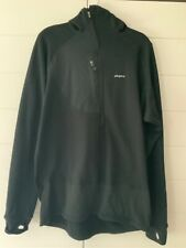 PATAGONIA BLACK MENS 1/4 ZIPPED FLEECE PULLOVER WITH HOOD SIZE XL