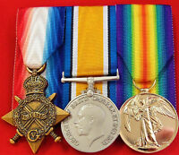 WW1 AUSTRALIAN BRITISH COMMONWEALTH MOUNTED MEDAL TRIO GROUP REPLICA ANZAC