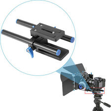 """Neewer 15mm Rod Support Baseplate w/ 1/4"""" Screw Quick Release Plate"""