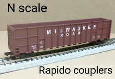 Milwaukee Road MILW wood chip car N scale Deluxe Innovations Gunderson Hi side
