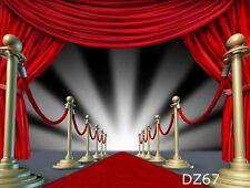 10x10ft Red Carpet Vinyl Studio Backdrop Photography Photo Props Background DZ67