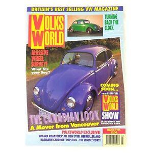 VOLKSWORLD - Massive Wheel Survey - March 1995 VW Volkswagen Beetle Magazine