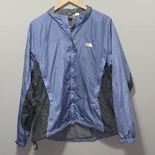 The North Face Women Jacket Coat Nylon Large Ripstop Rain Wind Lined Blue