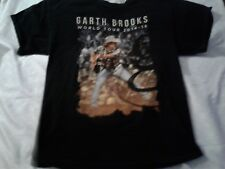Garth Brooks 2014-2015 World Tour Concert T Shirt Adult Black 9 Cities So Far, L