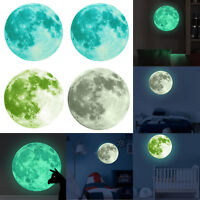 Luminous Moon Glow in the Dark Wall Stickers Kids Fluorescent Home Decal Decor