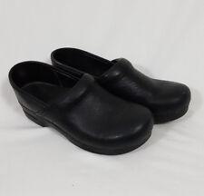 Dansko Professional Stapled Clogs Black Cabrio Leather USA 12 / EUR 42