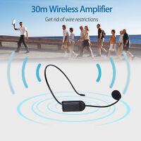 Wireless Headset Microphone FM Stereo Radio Transmitter 30m Wireless Amplifier