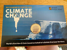 More details for 2020 climate change, our greatest threat bi-metal bat £1 coin pack