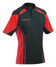 KOOGA MENS STADIUM TEAMWEAR MATCH SHORT/SLEEVED RUGBY SHIRT - BLACK/RED