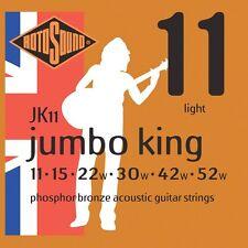 Rotosound Jumbo King JK11 Acoustic guitar strings Phosphor Bronze Saiten 11-52