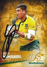 ✺Signed✺ 2016 WALLABIES Rugby Union Card Card SEAN MCMAHON