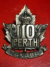 Ww1 Cef 110th Battalion, Mint Condition, 2 Original Lugs, Great Strike & Detail