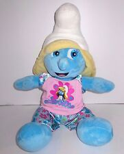 "The Smurfs - Smurfette Stuffed Plush 18"" - Build A Bear 2011 - With Outfit"