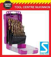 SUTTON D109SM3 HEAVY DUTY COBALT 25pce METRIC JOBBER DRILL BIT SET