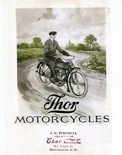 1914 THOR MOTORCYCLE SALES BROCHURE IN .PDF FORMAT ON CD ANTIQUE REPRODUCTION