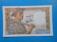 10 francs mineur 25-3-1943 F8/8 SPL
