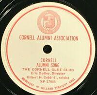 CORNELL COLLEGE GLEE CLUB - 78 Record 1931 CORNELL ALUMNI SONG / Carnelian White