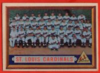 1957 Topps #243 St. Louis Cardinals Team EX+ WRINKLE Stan Musial Ken Boyer