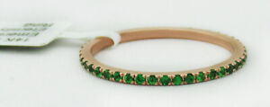 EMERALD 0.44 Cts  ETERNITY RING 14K ROSE GOLD ** New With Tag **