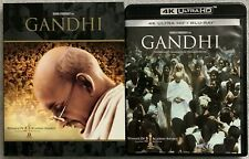 GANDHI 4K ULTRA HD BLU RAY 4 DISC SET + SLIPCOVER SLEEVE FREE WORLD WIDE SHIPPIN