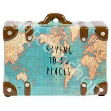 Vintage Map Design Money Pot 'Saving To Go Places' Piggy Bank Money Box Gift