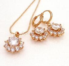 Damen Hochzeit 18k gelbes Gold überzogener künstlicher Diamant Ohrhänger