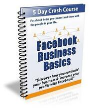 Facebook Business Basics Ebook On CD $5.95 Plus Resale Rights Free Shipping