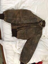 Vintage Mens Banana Republic Leather Bomber Jacket Size 42