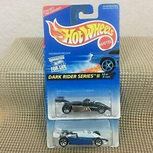 Hot Wheels Turbo & Thunder Streak Racing LOT '96 Dark Rider #402 & #470 no tampo