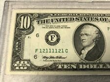 1995 F-Atlanta $10 Dollar Super Outstanding Radar Bill.