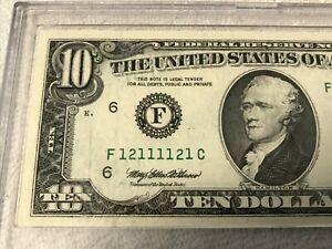1995 F-Atlanta $10 Dollar Super Outstanding Radar Bill.