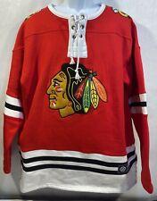 NWT Fanatics Chicago Blackhawks Jersey Lace Sweater Mens 2XL
