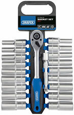 Draper 1/2in Drive 20 Piece Combined Metric & SAE Deep Socket Set 16377