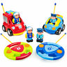 BCP Set of 2 Kids RC Remote Control Racing Car Toys w/ Action Figures