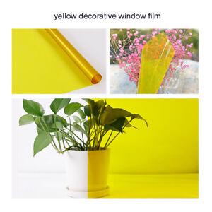 Yellow Decorative Window Film Building Home gLASS Tint PET Window Glass sticker